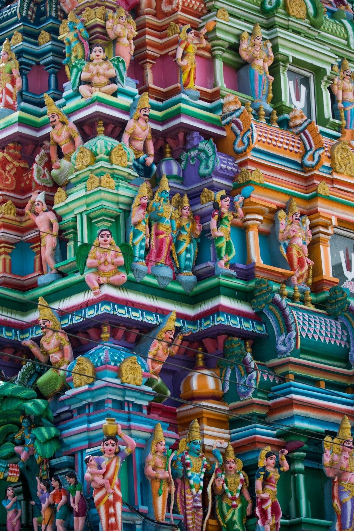 Temple hindou dans le downtown, Yangon