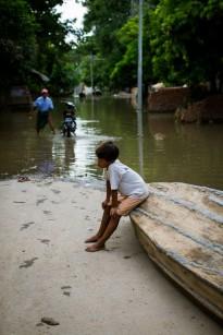 Nyaung U et son fleuve qui envahit les rues