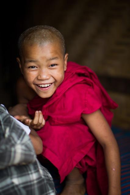 Jeune novice palaungs au monastère de Tan San, Shan State