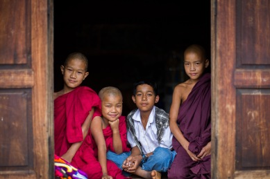 Jeunes palaungs au monastère de Tan San, Shan State