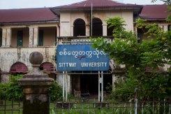 Université de Sittwe, ou plutôt ce qu'il en reste