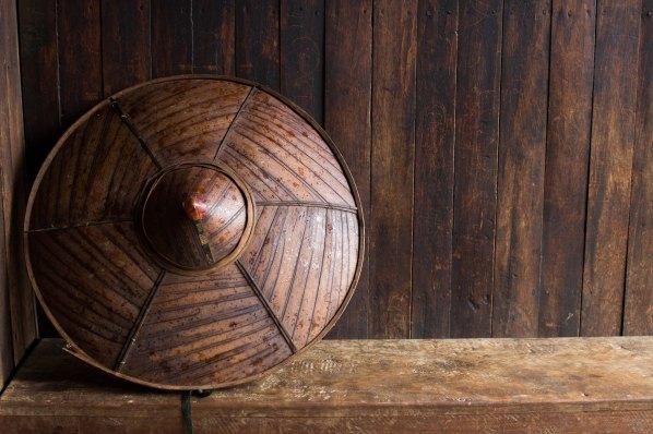 Chapeau palaung que porte les producteurs de thé