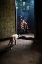 Femme palaung qui cuisine, Tan San, Shan State