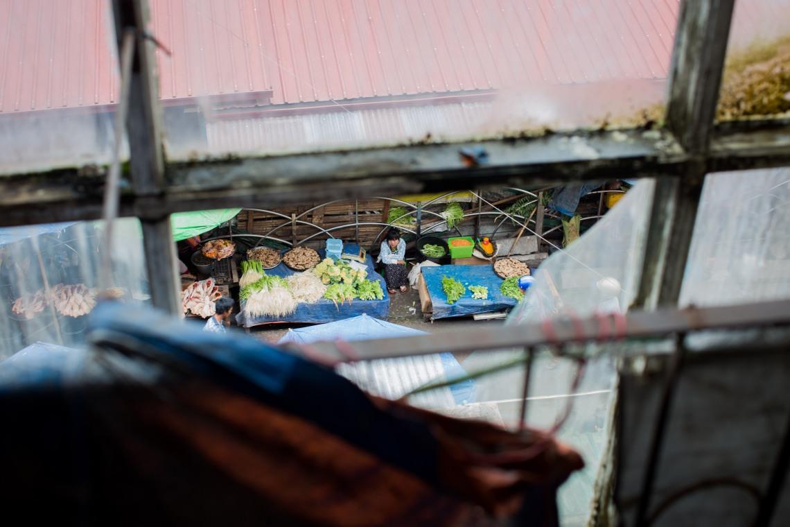Vendeuse au marché de Taunggyi, Shan State