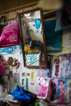 Couturières au marché de Taunggyi, Shan State