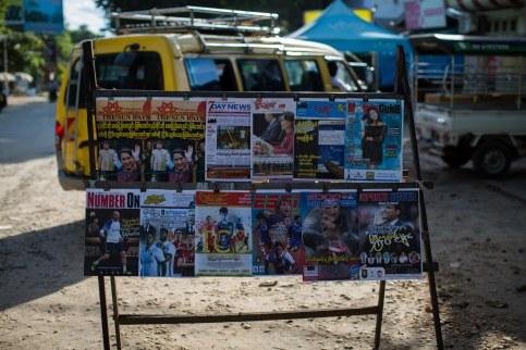 Les journaux c'est 50% Aung San Suu Kyi, 50% foot